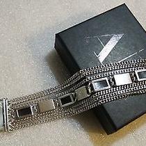 Armani Exchange A/x Metal Wood Bracelet Authentic Photo