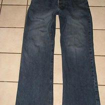 Armani Exchange Ax Aix Mens Jeans J 101 Blue Size 32 30 Button Bolt Photo