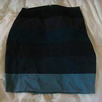 Armani Exchange Ax Shades of Blue Skirt Size Small Zipper Back Stretchy Photo