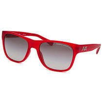 Armani Exchange Ax4008-8027-11-56 Men's Square Transparent Red Sunglasses Photo