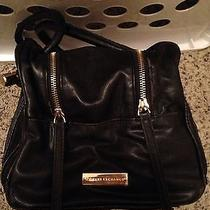Armani Exchange Black and Gold Plated- Handbag With Tags Photo