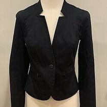 Armani Exchange Black Blazer Sz Xs Women Designer Stretch Work Wear Professional Photo