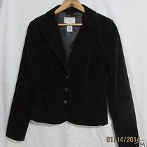Armani Exchange Blazer Short Black Velvet Jacket Womens M Photo