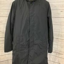 / Armani Exchange Camo-Lined Sleek Navy Trench Coat Size Xs Photo