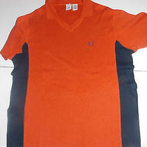 Armani Exchange   Casual Shirt   Xl Modern Fit  Orange Navy Photo