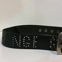 Armani Exchange Classic Black Leather Womens Belt Size 38 Photo