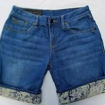 Armani Exchange Denim Floral Printed Womens Shorts 2  Photo