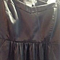 Armani Exchange Dress Black Satin Size 2 Photo