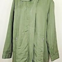 Armani Exchange Genuine Women's Parka Jacket (Coat) Size S 8-10 Khaki Green Zip Photo