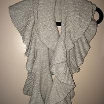 Armani Exchange Gray & Silver Ruffled Scarf Nwt 100% Authentic Ax  Photo
