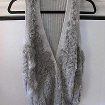 Armani Exchange Gray Sweater Vest With Angora Rabbit Fur - Size Medium Photo