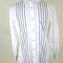 Armani Exchange L Large 100% Cotton Slim Fit Men's Button Front Dress Shirt Nice Photo