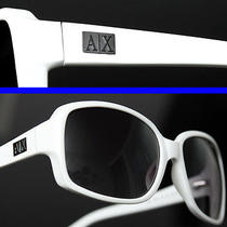 Armani Exchange Ladies Ax Logo Plate Sunglasses Photo