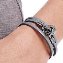 Armani Exchange Leather Bracelet New A/x Womens  Clasp Bracelet  Photo