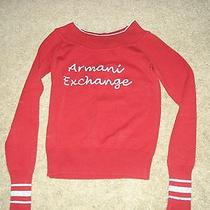 Armani Exchange Logo Red Sweater Size S  Photo