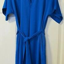 Armani Exchange Long Top/ Dress Blue Colour With Hidden Pockets and Belt -Size S Photo