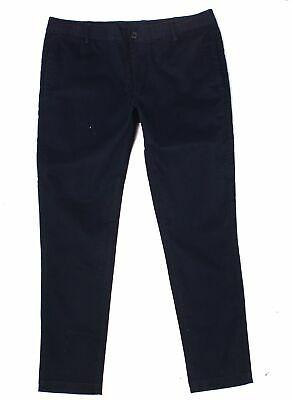 Armani Exchange Mens Pants Blue Size 38 Twill Chino Elastic-Waist $84 #669 Photo