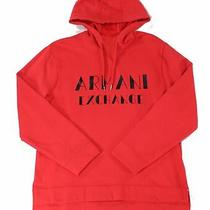 Armani Exchange Mens Sweater Red Size Xl Hooded Logo Pullover Fleece 90 283 Photo