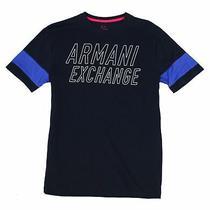 Armani Exchange Mens T-Shirt Black Size Xl Graphic Tee Logo Crew 50 117 Photo