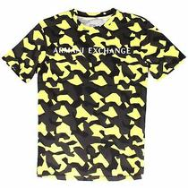 Armani Exchange Mens T-Shirt Yellow Size 2xl Graphic Printed Tee 50 160 Photo