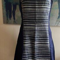 Armani Exchange Navy Dress Size 8 Nwt Photo