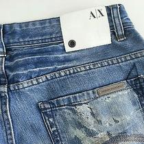 . Armani Exchange Paint Jean ..light Used.. Size 32 Photo