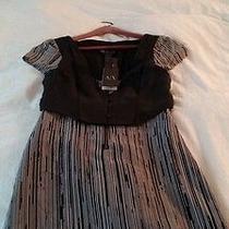 Armani Exchange Po Black and White Dress Photo