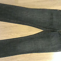 Armani Exchange Straight Leg Fringed Leg Jeans Sz 4 Short Photo