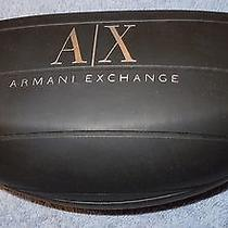 Armani Exchange Sunglass or Eyeglass Case - in Great Shape - Spring Hinge Photo