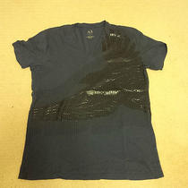 Armani Exchange - Vneck Blue Eagle T-Shirt  Photo