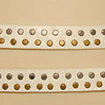 Armani Exchange - White - Genuine Leather & Studded - Wrap Hip Belt Sz L Nice Photo
