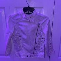 Armani Exchange White Jacket Women. Sizem Photo