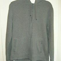 Armani Exchange Women Gray Zip Up Hoodie - Size Large Photo