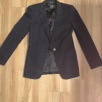 Armani Exchange Womens Black Blazer Jacket Modern Career - Size M Photo