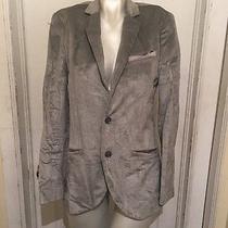 Armani Exchange Women's Solid Gray Cotton Blend Blazer Size Xs Photo