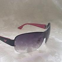 Armani Italy Aviator Sunglasses Pink Black Gray Lens Ea 9749/s A7f Kj 125  Photo