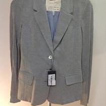 Armani Jeans Lady Jacket Mother of Pearl 100% Cotton 40 Eu Small Usa Grey Photo