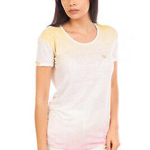 Armani Jeans Linen T-Shirt Top Size 38 / Xs Ombre Slub Yarn Made in Portugal Photo