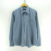 Armani Jeans Men's Shirt in Blue Size M Striped Cotton Long Sleeved Shirt Cd2425 Photo