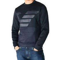 Armani Jeans Mens Eagle Logo Tech Sweatshirt X-Large Navy Blue Photo