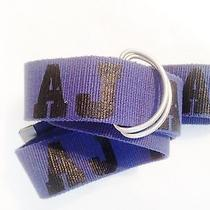 Armani Jeans Violet Cotton Belt Photo
