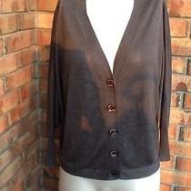 Armani Jeans Women's Gray 100% Silk See Through Cardigan Photo