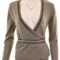 Armani Jeans Womens Cardigan Sweater It 46 Large Grey Wool  Ju08 Photo
