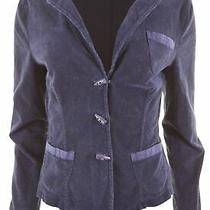Armani Jeans Womens Corduroy Blazer Jacket Uk 18 Xl Blue Cotton  Ck19 Photo