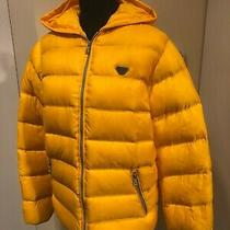 Armani Junior Beautiful Puffer Jacket Coat in Yellow Size 16a Authentic Photo