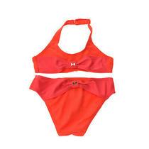 Armani Junior Bikini Set Size 2y / 94cm Textured Lined Adjustable Halterneck Photo