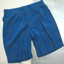 Armani Junior Blue Pullon Shorts With Tiny Grey Logo Design Sz. 14a Photo