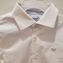 Armani Junior Boys 4t-5t Slim Fit White Dress Shirt Photo