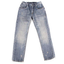 Armani Junior Jeans Size 8y/130cm Stretch Distressed Faded Crumpled Embellished Photo