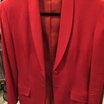 Armani Ladies Red Silk Blazer. Size 8. New. Photo